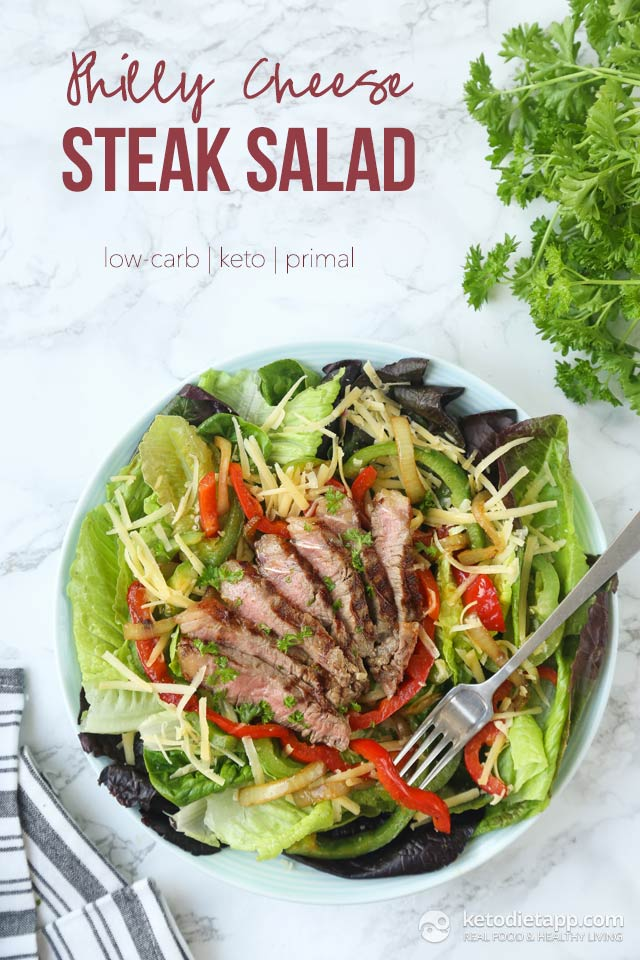 Low-Carb Philly Cheese Steak Salad
