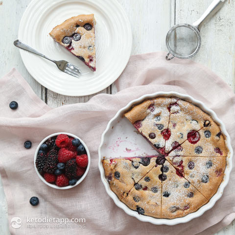 Low-Carb Triple Berry Clafoutis