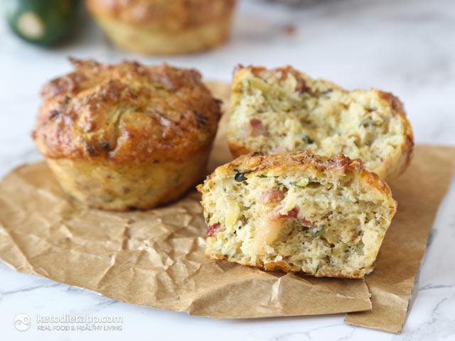 Keto Savory Zucchini Muffins | The KetoDiet Blog