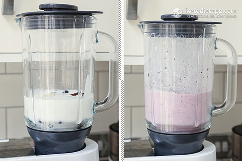Keto Blueberry Kefir Smoothie