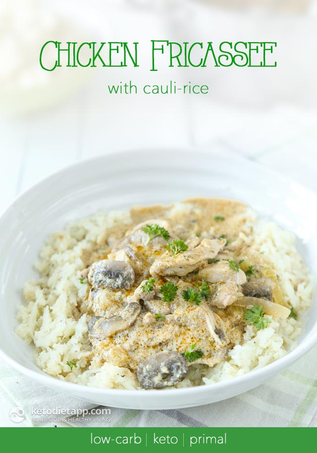 Low-Carb Chicken Fricassee