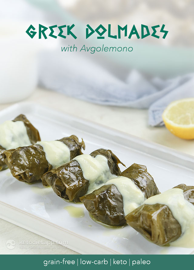 Keto Greek Dolmades with Avgolemono