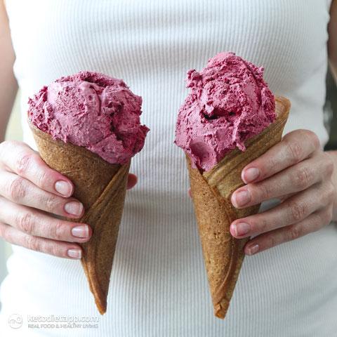 Low-Carb Ice Cream Sugar Cones
