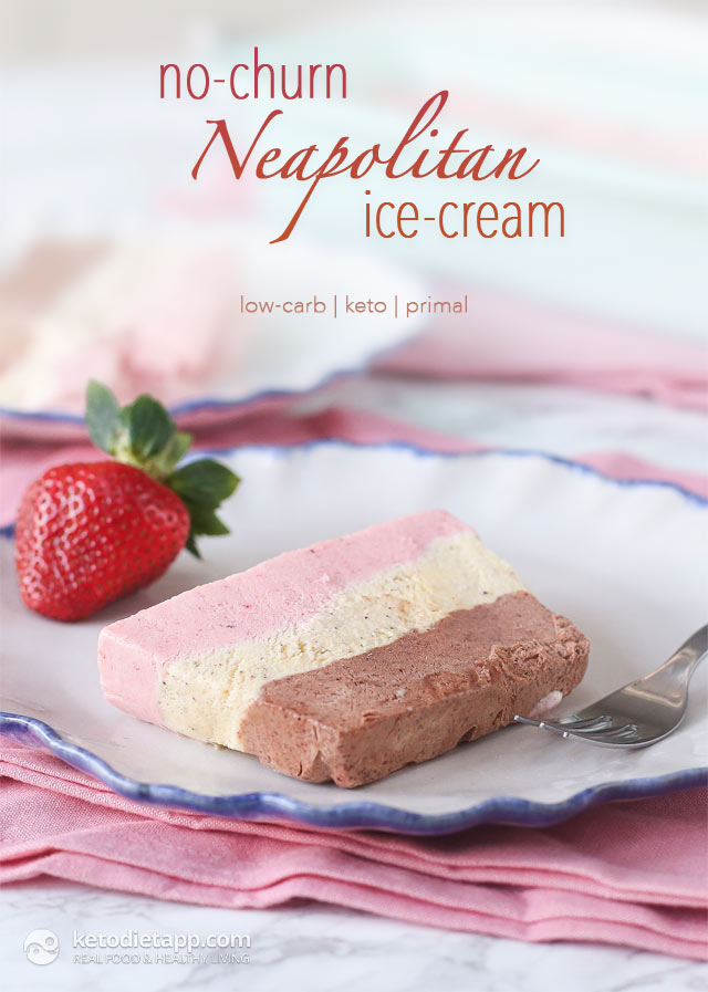 Keto Neapolitan Ice-Cream