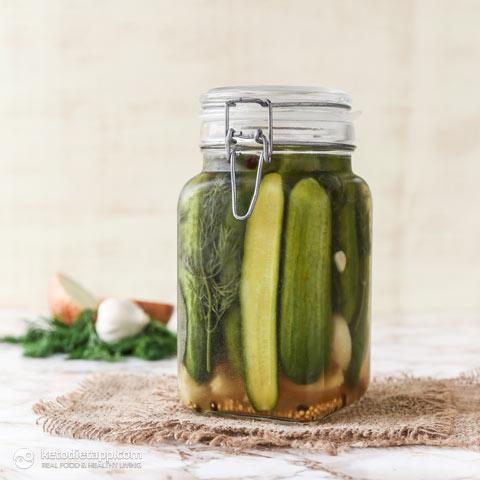 Low-Carb Refrigerator Pickles