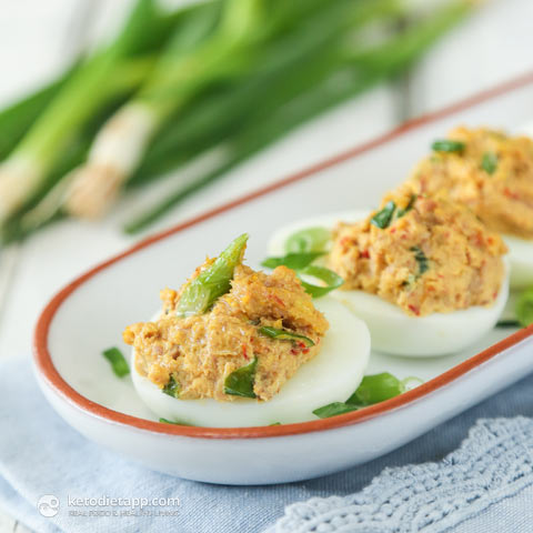 Spicy Tuna Deviled Eggs The Ketodiet Blog
