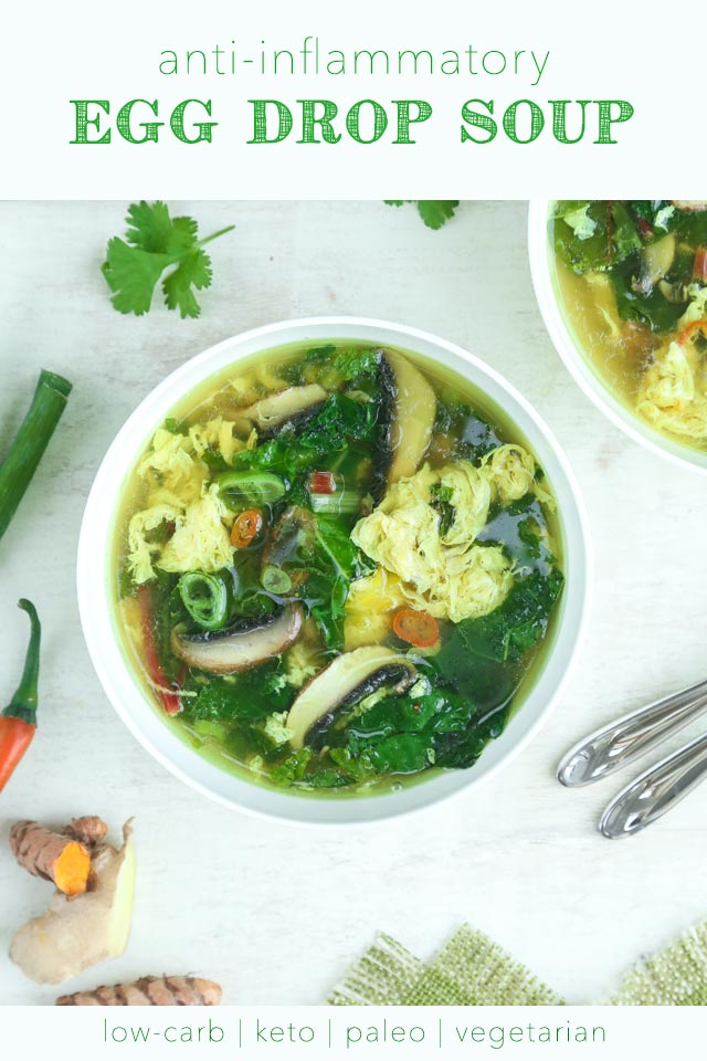 Anti-Inflammatory Egg Drop Soup | The KetoDiet Blog