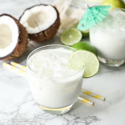 Low-Carb Lime Batida Cocktail