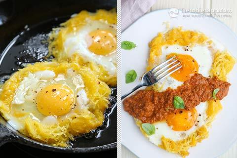 Low-Carb Spaghetti Squash Breakfast Nests