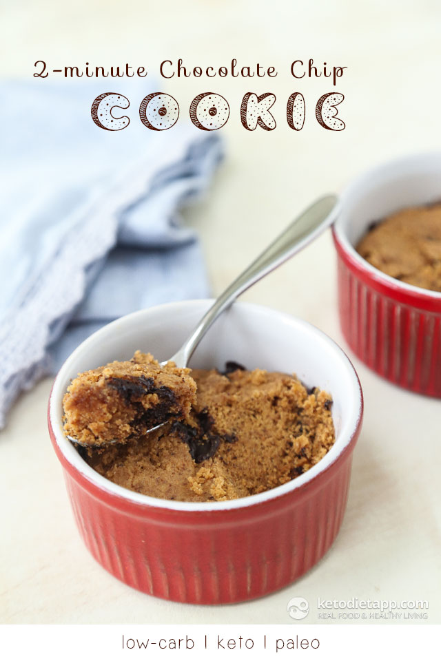 2-Minute Keto Chocolate Chip Cookie