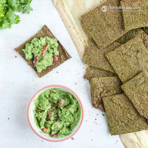 |Book Review: The Ketogenic Kitchen (Kale Crackers)