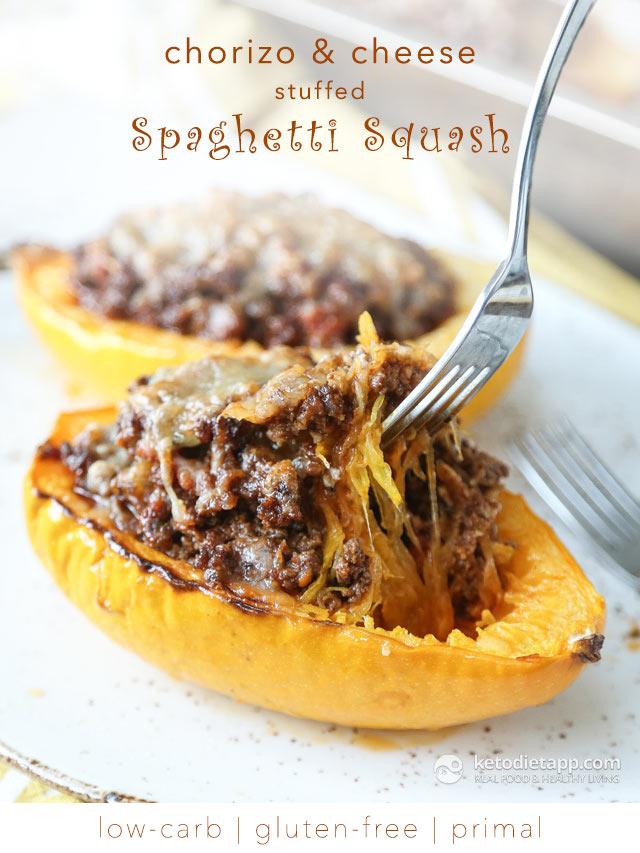 Low-Carb Chorizo Stuffed Spaghetti Squash