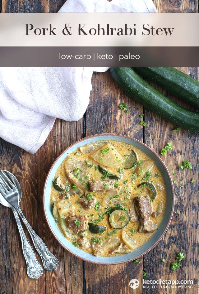 Keto Pork & Kohlrabi Stew
