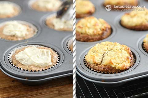 Keto Carrot Cheesecake Muffins