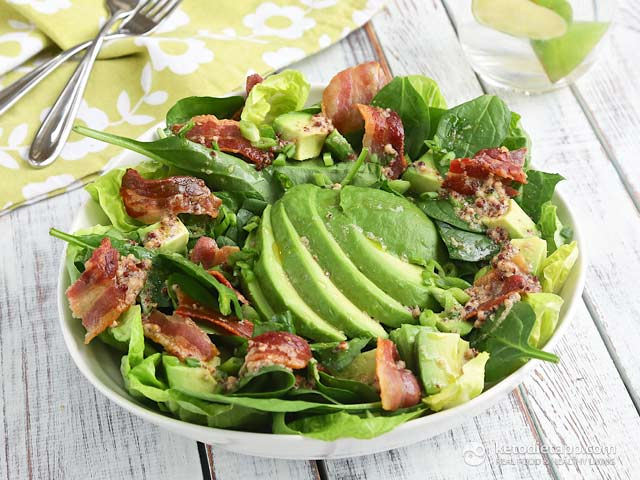Easy Avocado & Bacon Salad