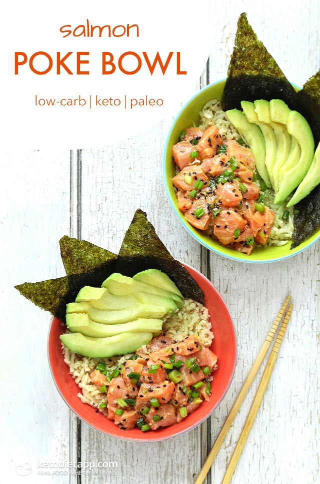 Keto Amp Paleo Salmon Poke Bowl The Ketodiet Blog