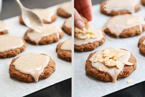 Keto Glazed Anise Holiday Cookies