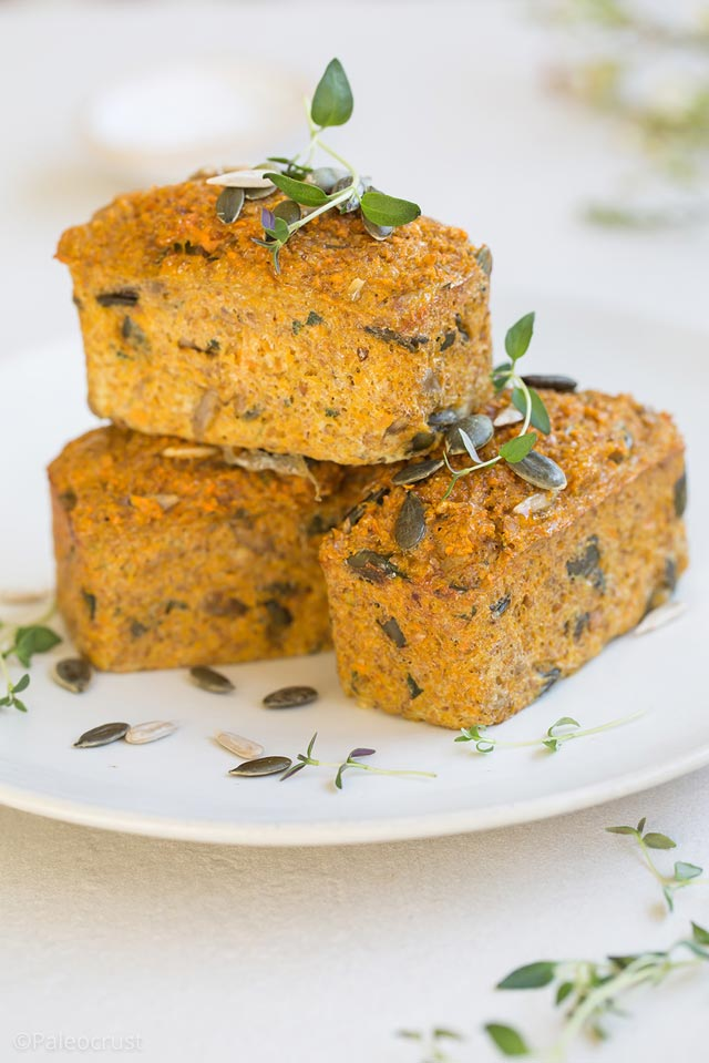 Paleo Multi-Purpose Mini Loaves with Carrot & Thyme