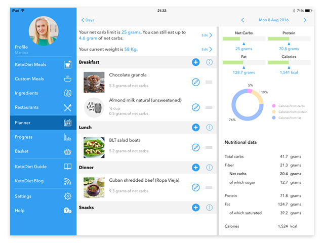 The New KetoDiet Universal iOS App
