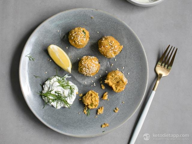 Paleo Carrot & Sesame Falafel
