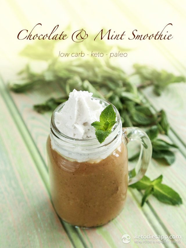 Keto Chocolate & Mint Smoothie