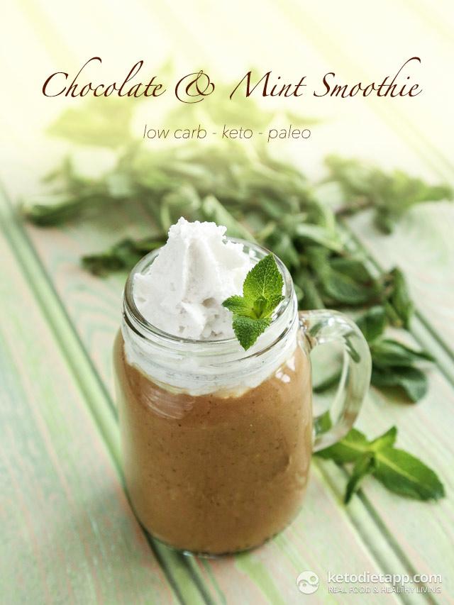 Keto Chocolate & Mint Smoothie