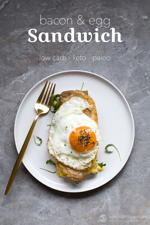 Keto Bacon & Egg Sandwich