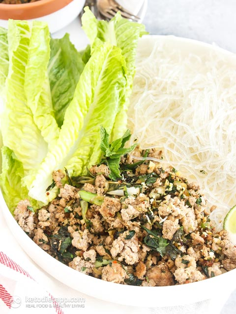 Thai Pork Salad with Kelp Noodles