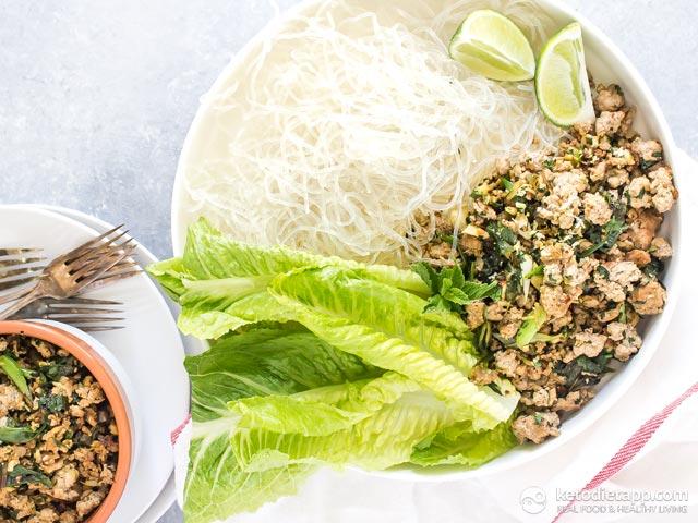 Thai Pork Salad with Kelp Noodles