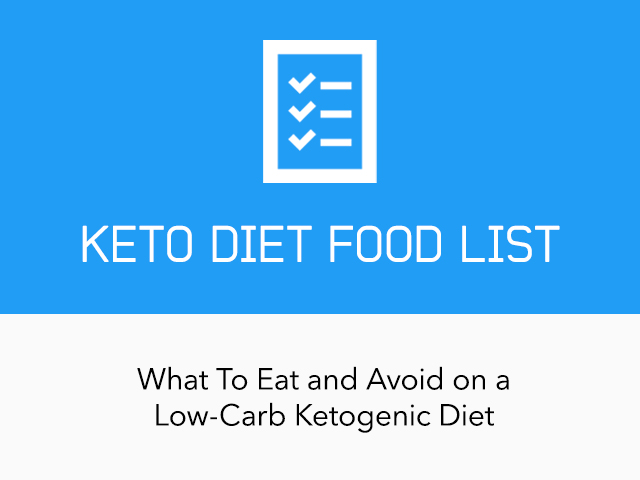 Complete Keto Diet Food List What To Eat And Avoid On A Low Carb