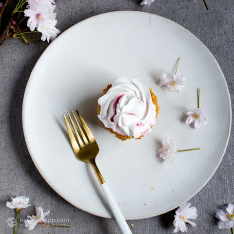 Keto Lemon & Raspberry Cupcakes