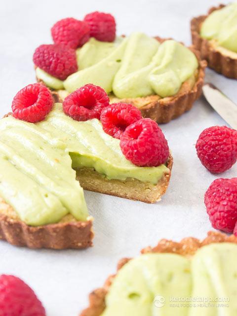Low-Carb Raspberry & Pistachio Tarts