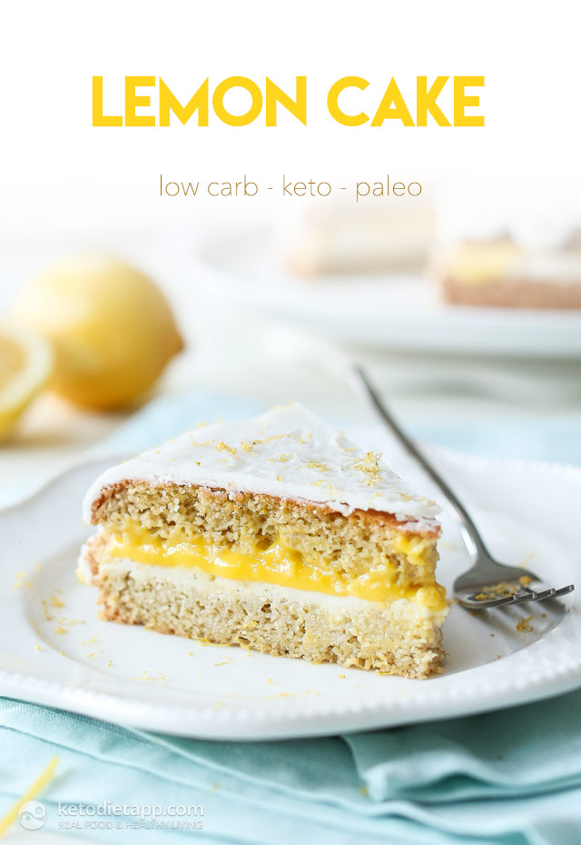 Zesty Low-Carb Lemon Cake | The KetoDiet Blog