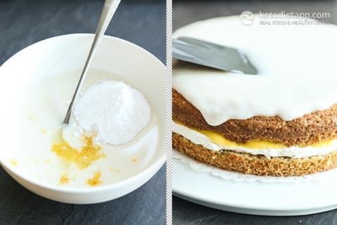 Zesty Low-Carb Lemon Curd Cream Cake