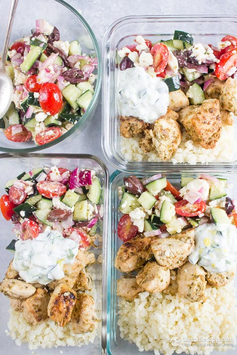 Low-Carb Greek Chicken Bowls
