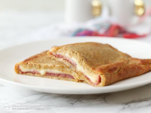 5-Ingredient Keto Ham & Cheese Pockets