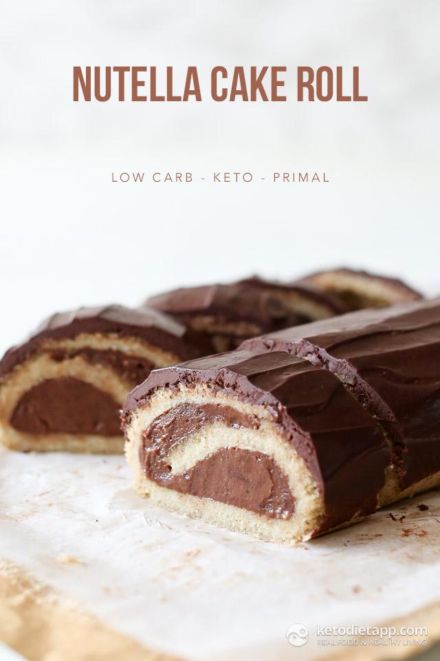 Keto Nutella Cake Roll