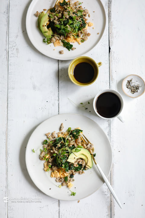 Easy Eggs with Kale and Sausage Crumb