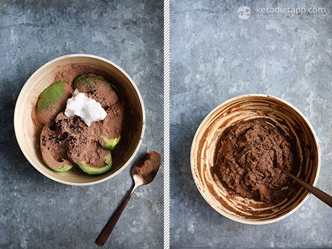 Keto Chocolate Pots with Chocolate Curls