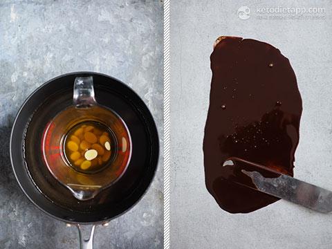 Keto Chocolate Pots with Chocolate Curls