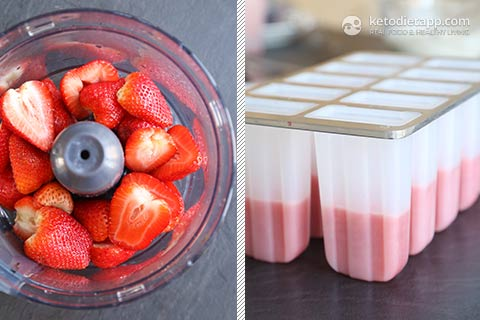 Sugar-Free Red, White and Blue Berry Popsicles