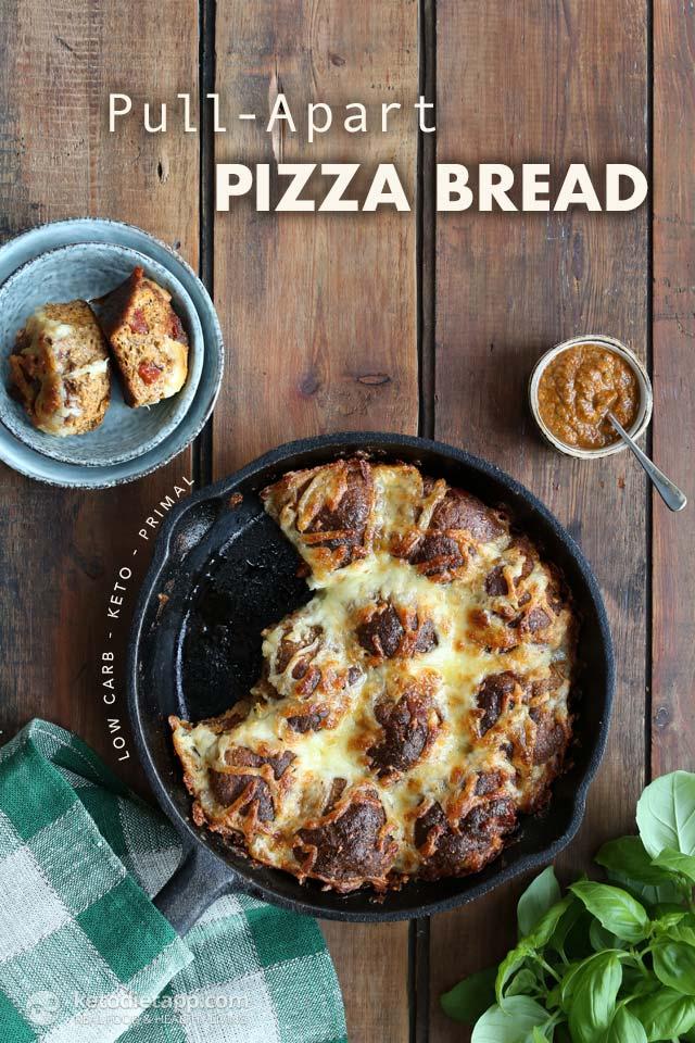 Pull-Apart Keto Pizza Bread