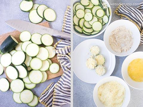 Garlic & Parmesan Keto Fried Zucchini