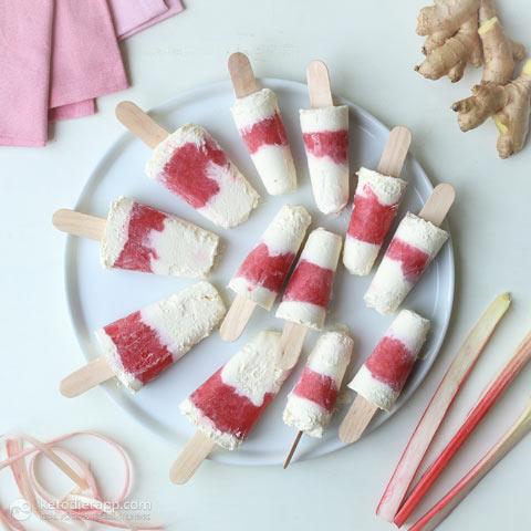 Keto Ginger & Rhubarb Creamsicles