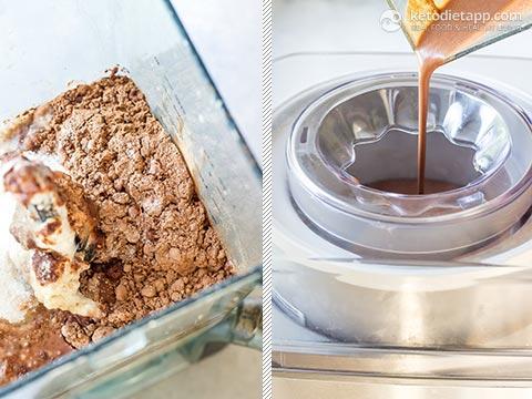 Keto Chocolate Ice Cream with Caramel Swirl