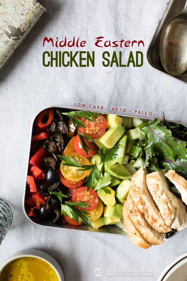 Low-Carb Middle Eastern Chicken Salad