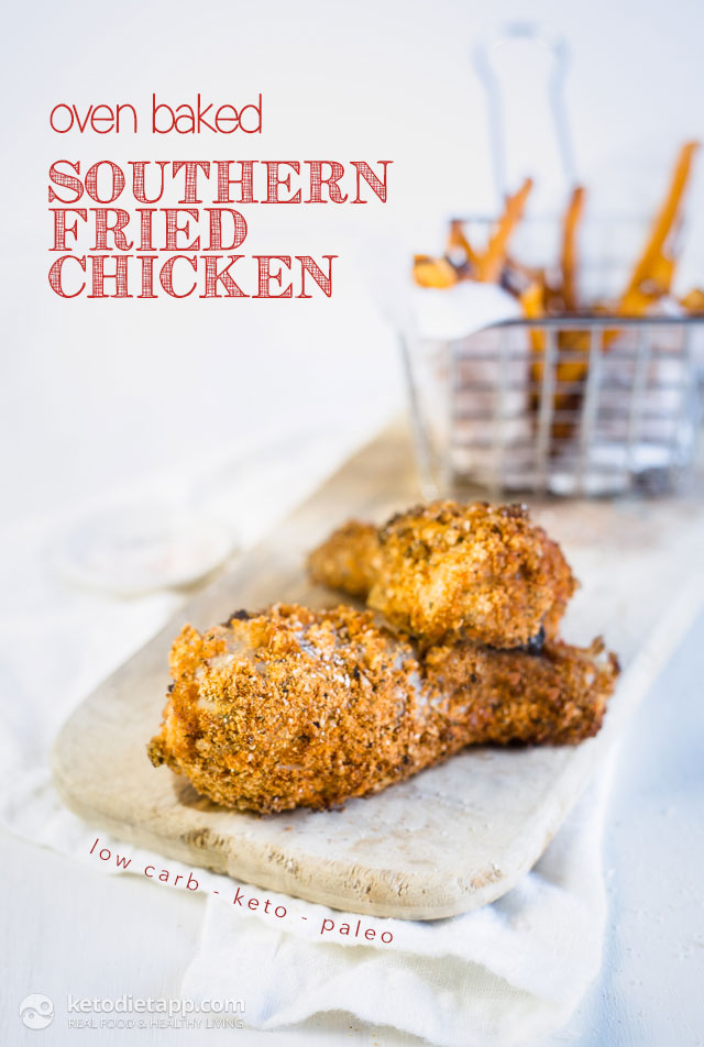 Oven Baked Keto Southern Fried Chicken