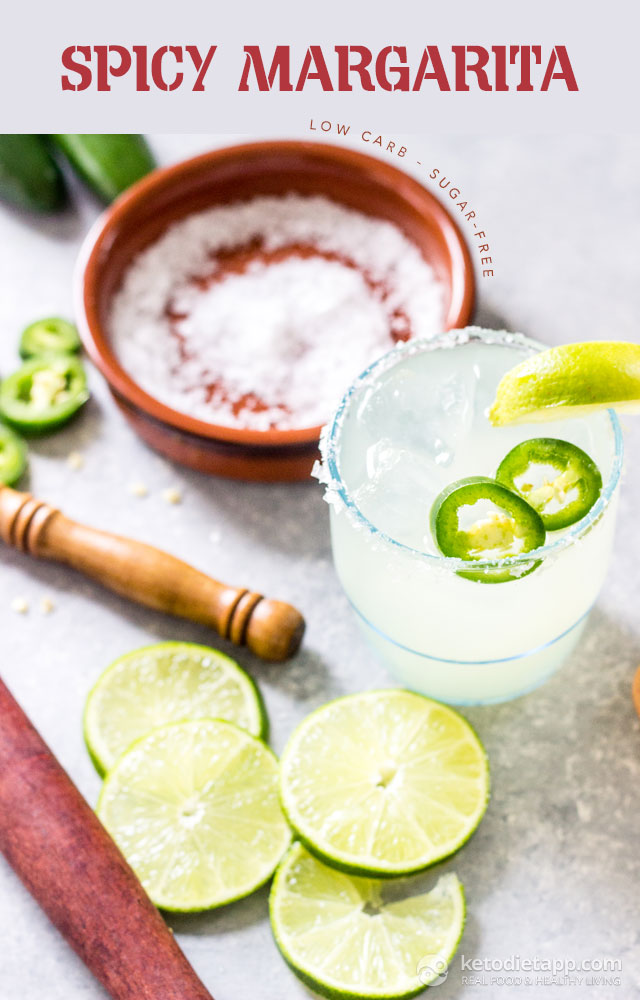 Low-Carb Spicy Margarita Cocktail