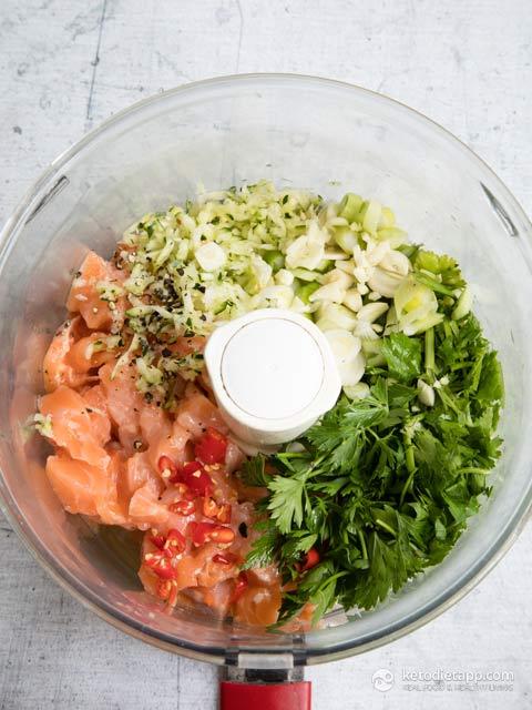 Spicy Keto Salmon Burgers with Lemony Kale
