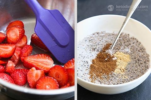 Keto Strawberry Breakfast Chia Jars